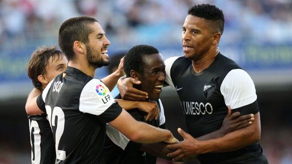 Fabrice Olinga marked his debut with a winning goal for Malaga