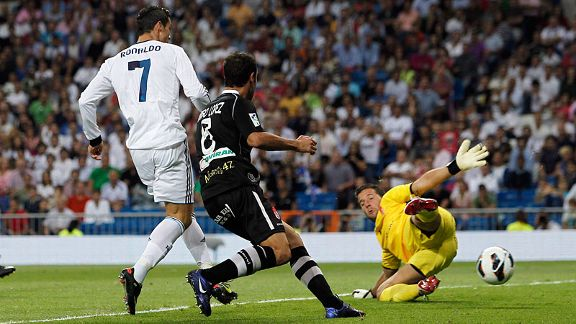 Cristiano Ronaldo scored a brace against Granada
