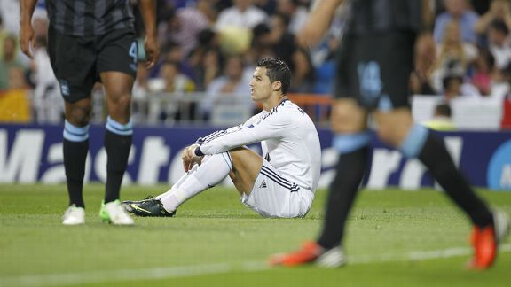 Cristiano Ronaldo shows his frustration as Real Madrid fail to make their dominance pay