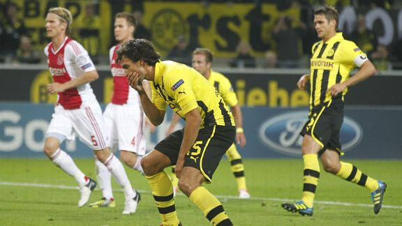 Mats Hummels shows his frustration after missing a penalty for Borussia Dortmund