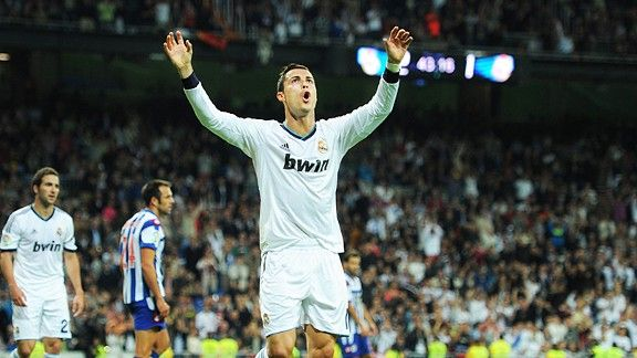 Cristiano Ronaldo was again Real's hat-trick hero