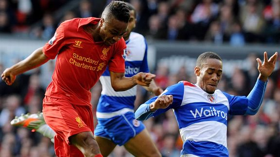 Raheem Sterling gave Liverpool the lead against Reading