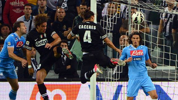 Martin Caceres nodded Juventus in front.