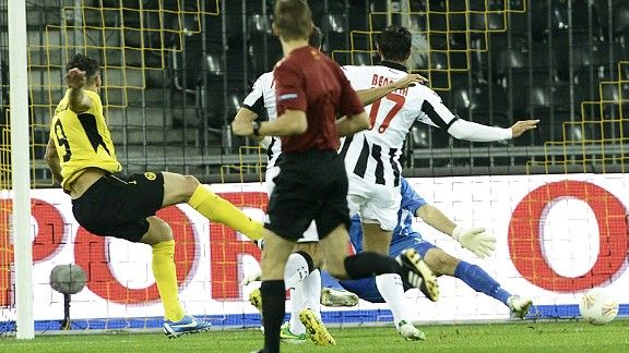 Raul Marcelo Bobadilla scores one of his three goals in Young Boys' fine win over Udinese