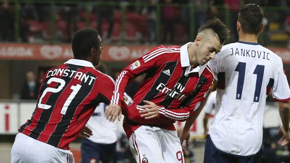 Stephan El Shaarawy scored the only goal of the game for Milan
