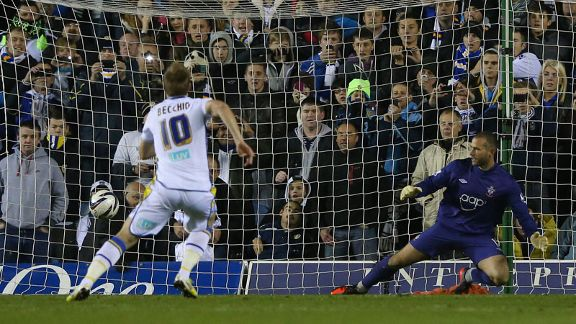 Luciano Becchio rounds off the scoring from the penalty spot