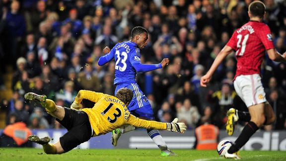 Daniel Sturridge slots home Chelsea's fourth goal in a thriller at Stamford Bridge