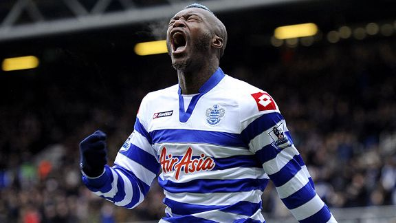 Djibril Cisse celebrates his equaliser