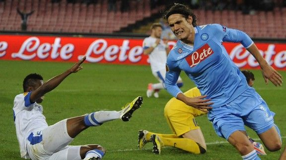 Edinson Cavani fired four goals for Napoli against Dnipro