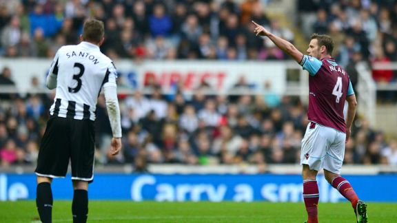 Kevin Nolan put West Ham in front against Newcastle