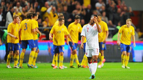 Raheem Sterling is a pained man after Sweden score