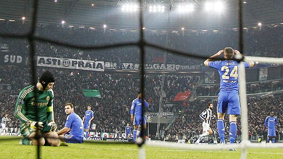 There's nowhere to hide for Chelsea's players after Arturo Vidal scored Juventus' second