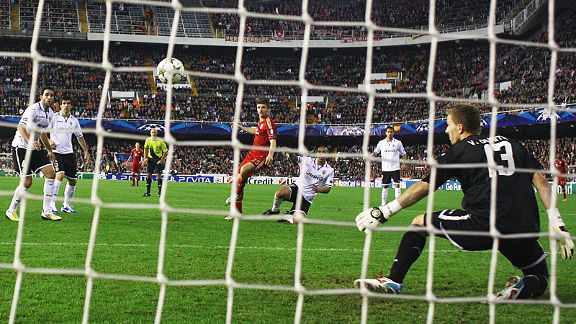 Thomas Muller fires home Bayern Munich's leveller at Valencia which booked their place in the knockout rounds