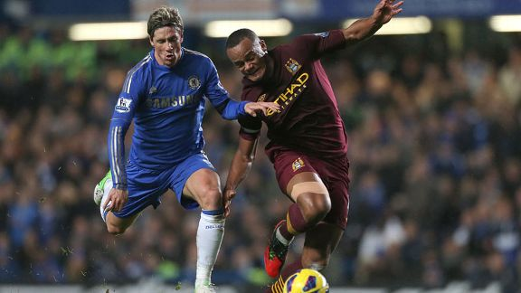 Fernando Torres and Vincent Kompany