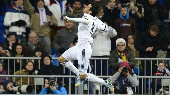 Kaka, Real Madrid captain for the night, celebrates his goal in the 4-1 win over Ajax