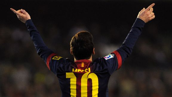 Lionel Messi scored a brace inside 25 minutes to break Gerd Muller's record for goals in a calendar year