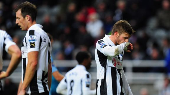 Newcastle's latest defeat leaves them just two points above the bottom three