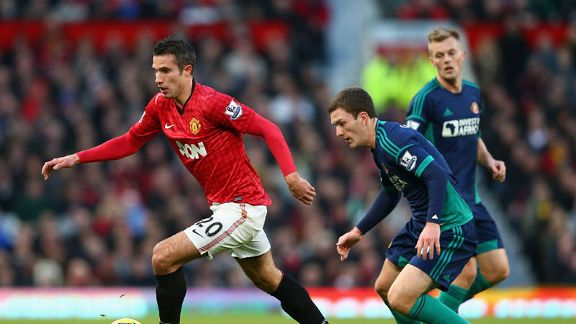 Robin van Persie notched another goal for Man United in the victory against Sunderland