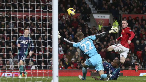 Wayne Rooney scored as Man United retained their six-point lead at the top of the Premier League