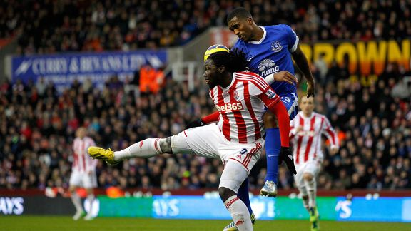 Kenwyne Jones was on the scoresheet for Stoke as they battled for a point with Everton