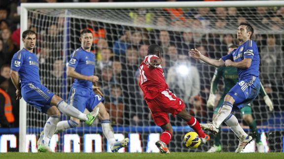 Shaun Wright-Phillips scores to put QPR in front against Chelsea