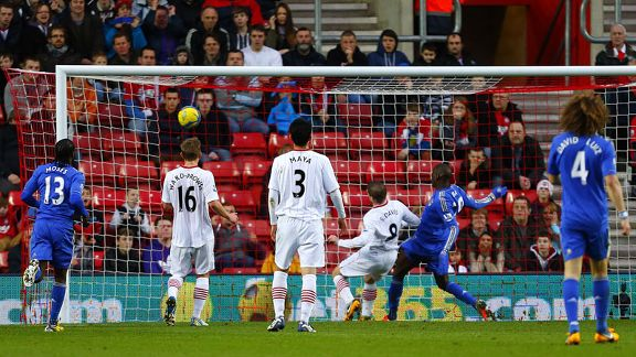 Demba Ba nets Chelsea's opener against Southampton
