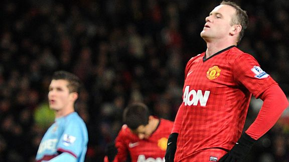 Wayne Rooney missed his second penalty of the season against West Ham