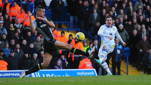 Ross McCormack doubles Leeds' advantage with an excellent strike