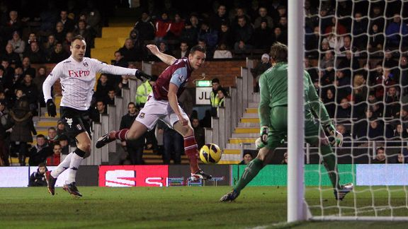 Kevin Nolan draws West Ham level at Fulham