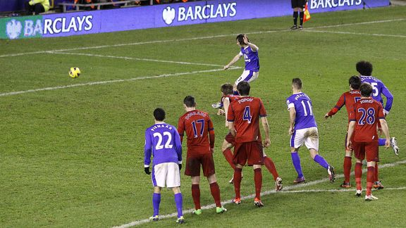 Leighton Baines puts Everton 2-0 up from the penalty spot