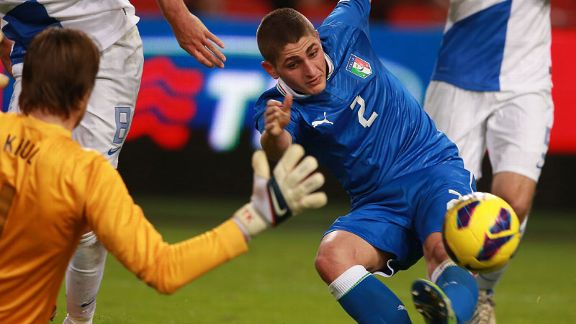 Marco Verratti netted a late equaliser to give Italy a draw against Netherlands