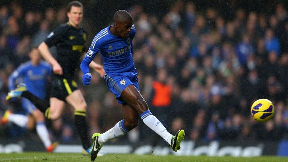 Ramires puts Chelsea into the lead against Wigan