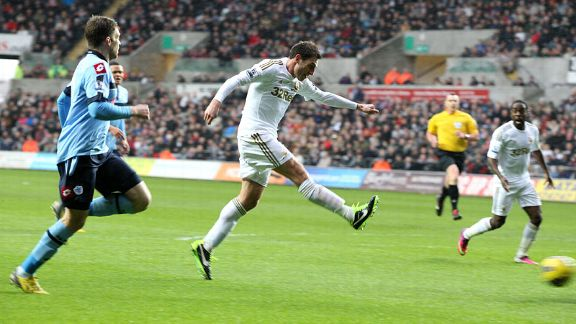 Angel Rangel fires home Swansea's second
