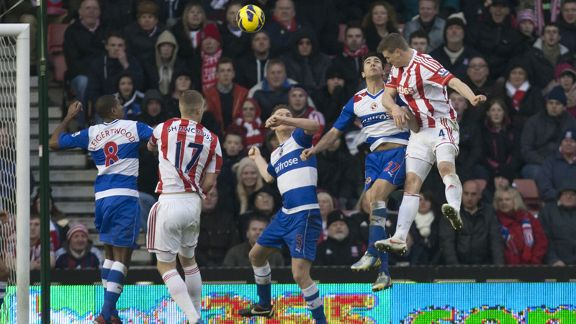 Robert Huth heads Stoke into the lead against Reading