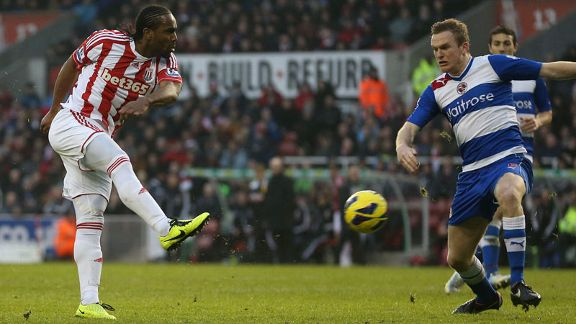 Cameron Jerome doubles Stoke's lead against Reading
