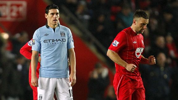Gareth Barry woe Southampton v Manchester City own goal
