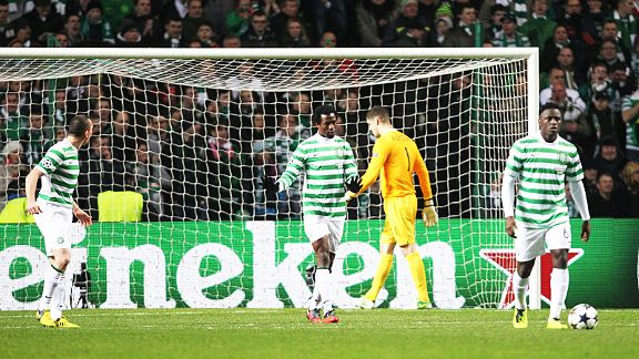 Celtic's players fail to hide their disappointment in the defeat to Juventus