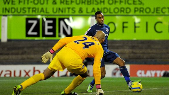 Jordan Obita gave League One Oldham Athletic an early lead against Everton
