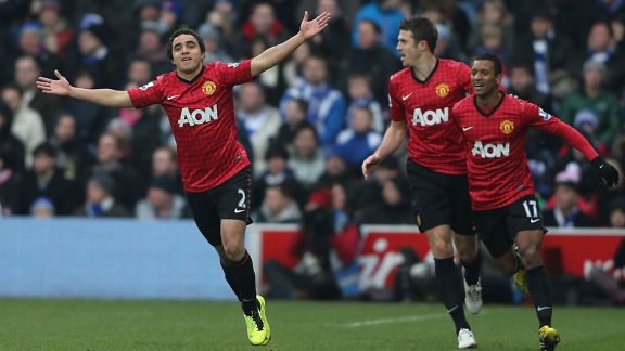 Rafael gave Man United the lead against QPR