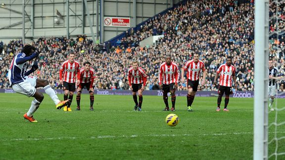 Romelu Lukaku's penalty broke the deadlock between West Brom and Sunderland