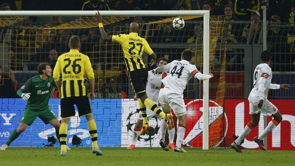 Felipe Santana headed Borussia Dortmund into the lead against Shakhtar Donetsk