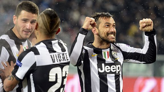 Fabio Quagliarella scored Juventus' second goal and a comfortable 5-0 aggregate win over Celtic