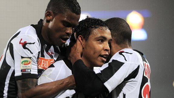 Udinese's Luis Muriel grabbed his side's equaliser against Roma