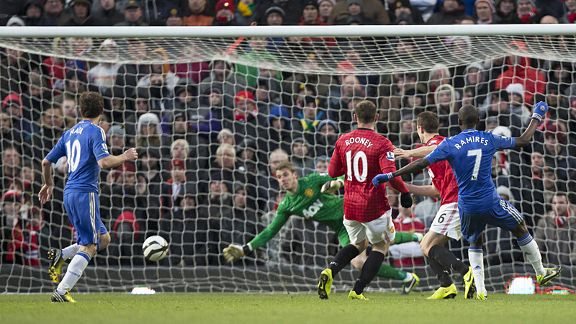 Ramires fires home Chelsea's leveller at Man United