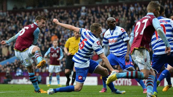 Andreas Weimann fires Villa into the lead