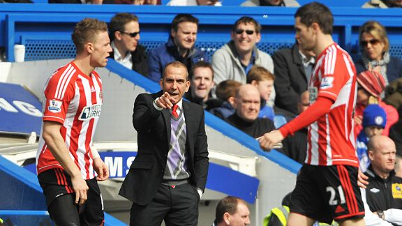 New Sunderland manager Paolo Di Canio keeps a close Connor Wickham and Adam Johnson