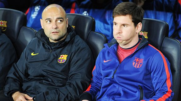 Lionel Messi was only fit enough for the bench against PSG