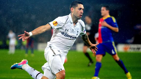 Clint Dempsey opened the scoring for Tottenham against Basel in the Europa League