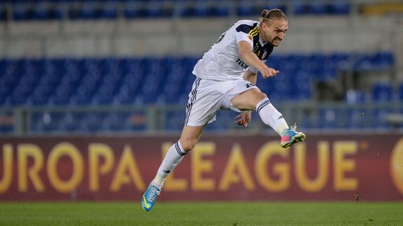 Caner Erkin scored for Fenerbahce to seal their Europa League progress