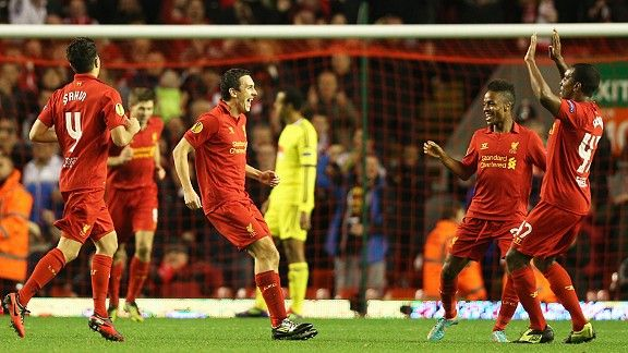 Stewart Downing scored a screamer for Liverpool against Anzhi